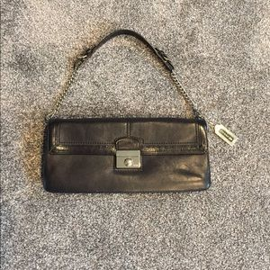 COACH black leather bag.